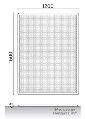 Plancha cubre zanjas 160x120cm