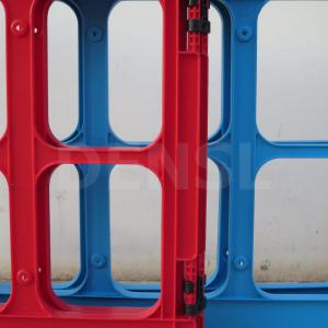 valla plegable WORKGATE en rojo y azul