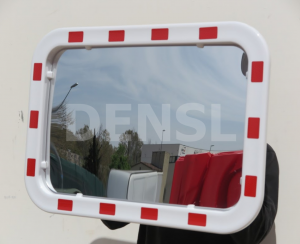 Espejo de seguridad rectangular