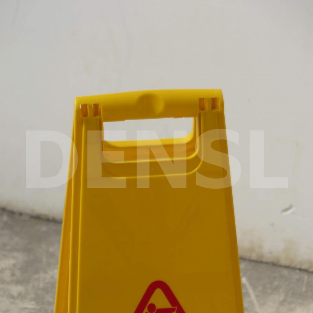 Cartel plegable amarillo