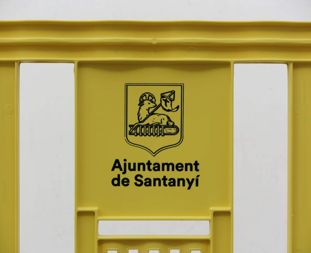 Serigrafía personalizada para una valla de plástico peatonal