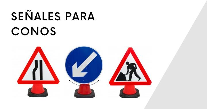 señales de tráfico que se adaptan a conos