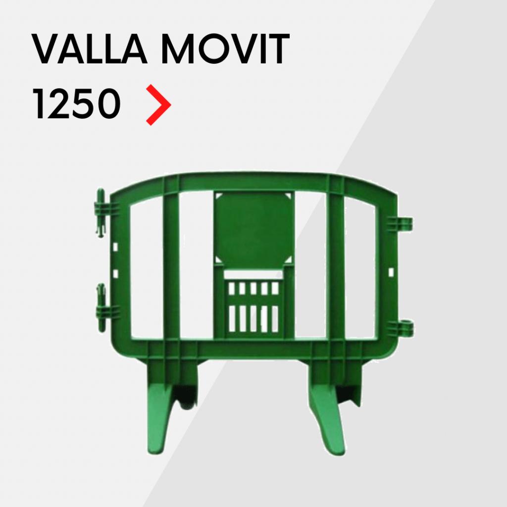 Valla de plástico peatonal Movit 1250