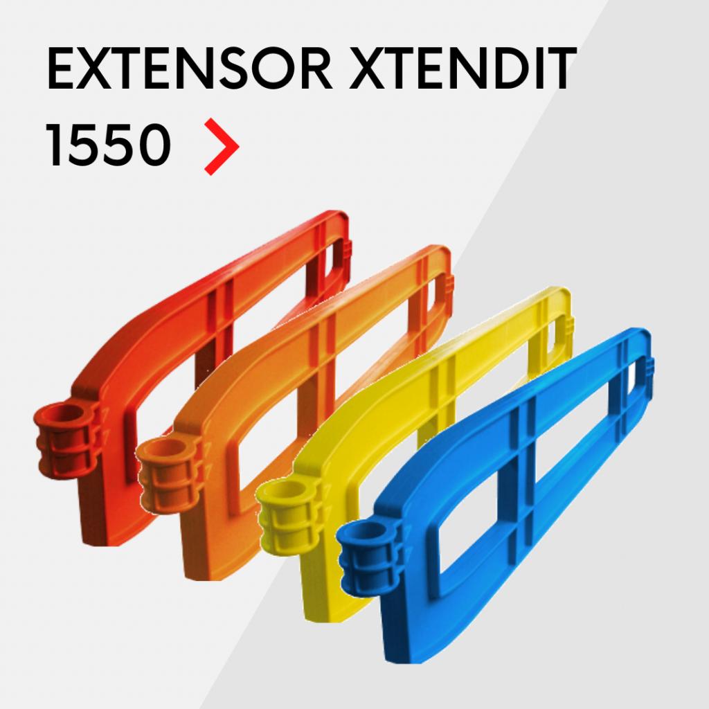 Extenstores de plástico para vallas peatonales Xtendit 1550