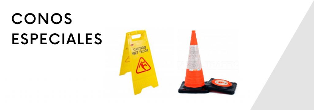 conos plegables y carteles plegables