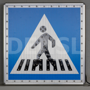 Señal de tráfico con iluminación LEDS