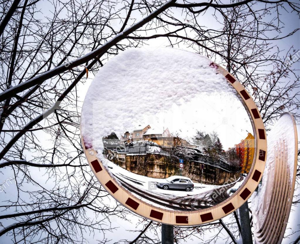 Espejo para situaciones de frío y nieve
