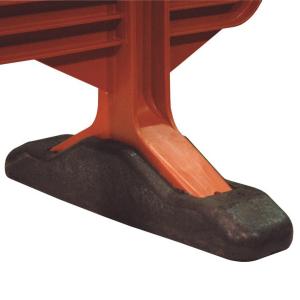 Pie de caucho para valla MOVIT