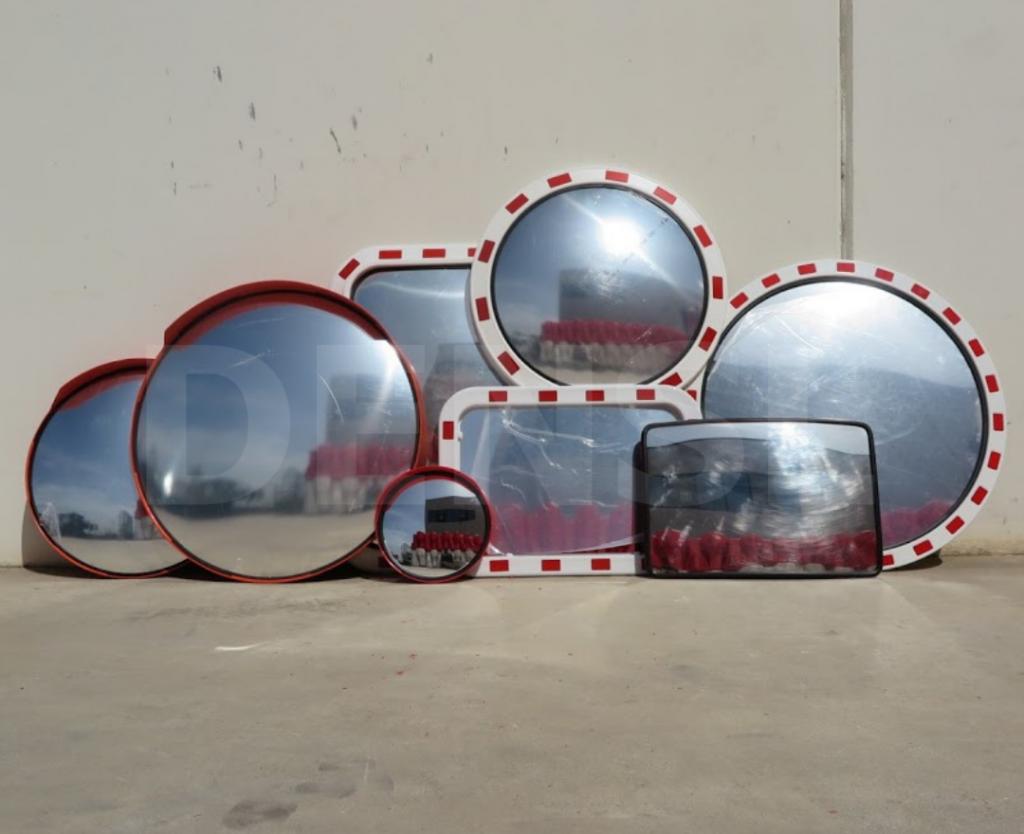 Varios modelos de espejos de seguridad y espejos de tráfico