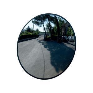 Espejo de tráfico, marco negro