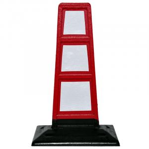 FlatCone - Delimitador de goma de tráfico reflectante