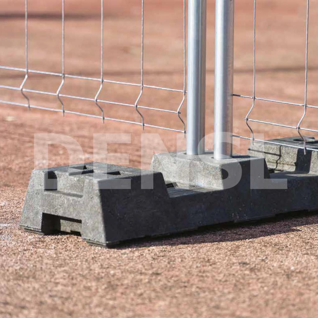 Pie de caucho para valla móvil