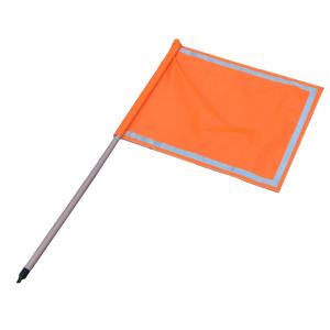 Banderola de señalización en color naranja tráfico